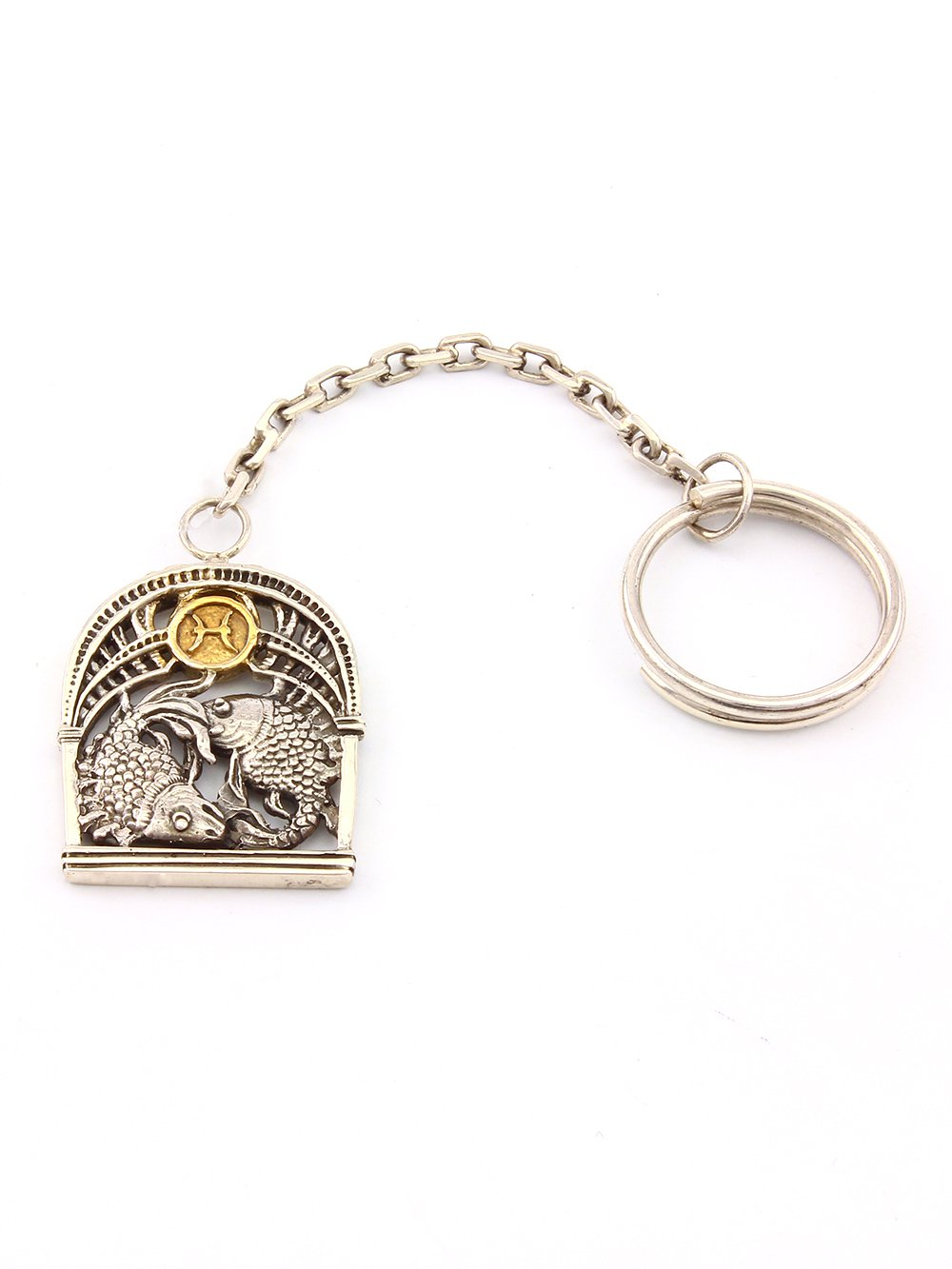 "Key chain with Signs of the Zodiac ""Pisces"""