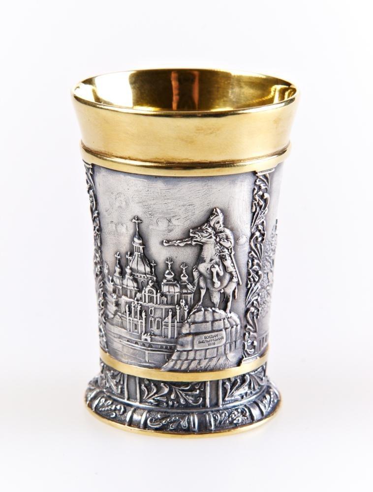 """Silver shot glass """"Kiev"""""""