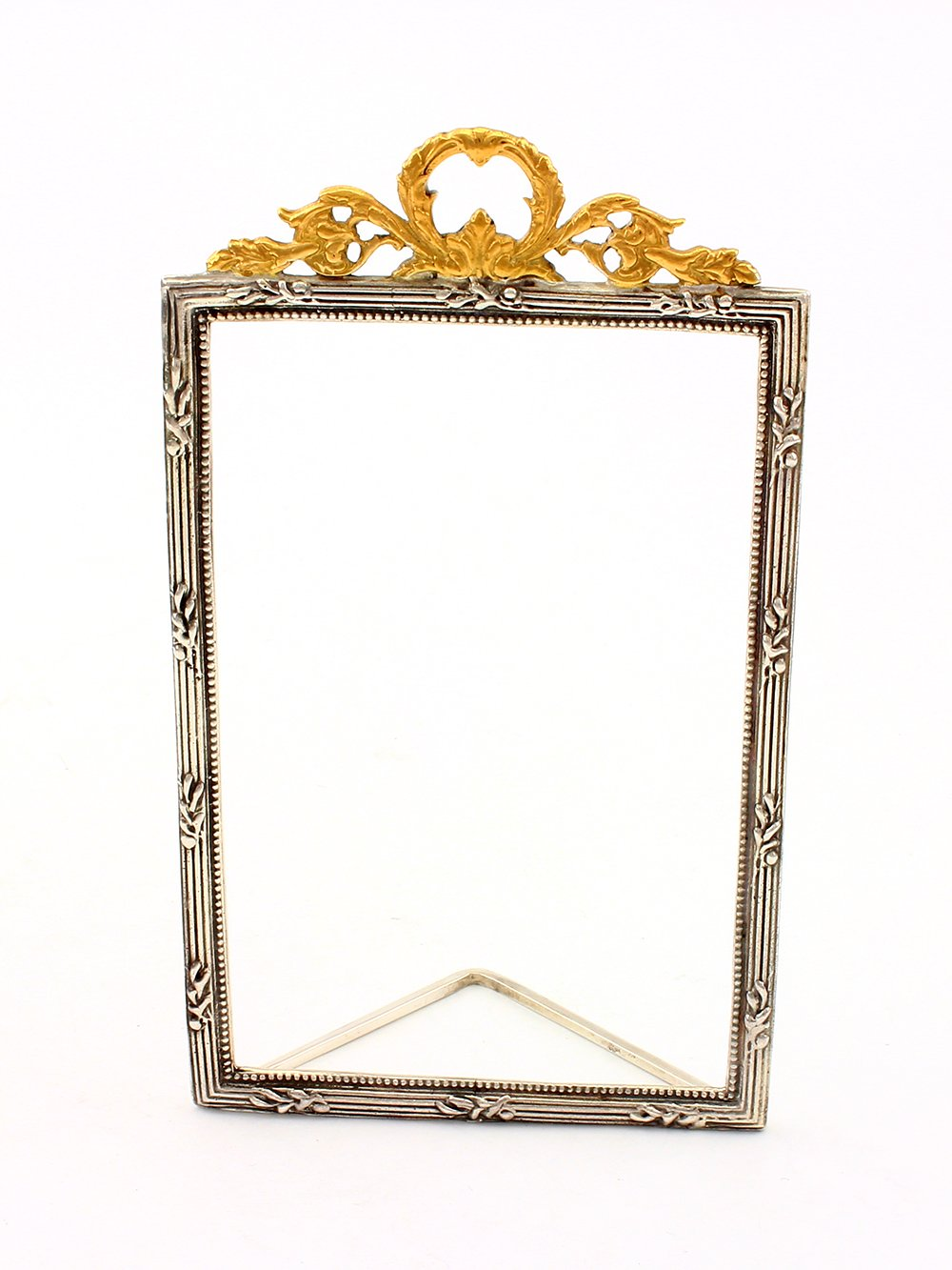 Silver photoframe with volute