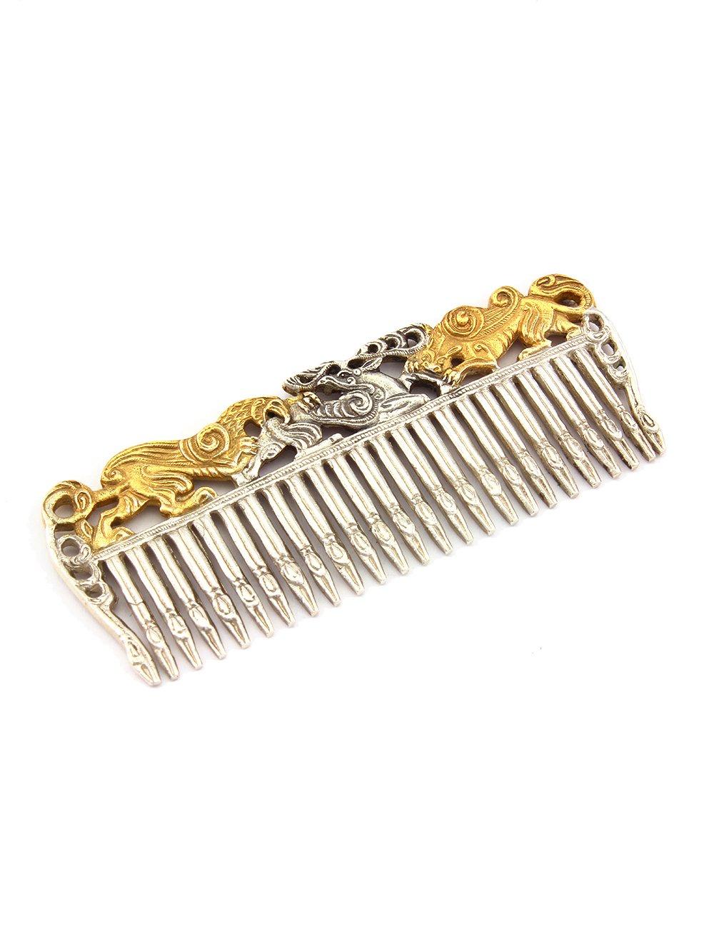 """Silver Hair comb """"Scythian"""""""