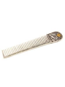 """Silver Hair comb with Signs of the Zodiac """"Cancer"""""""