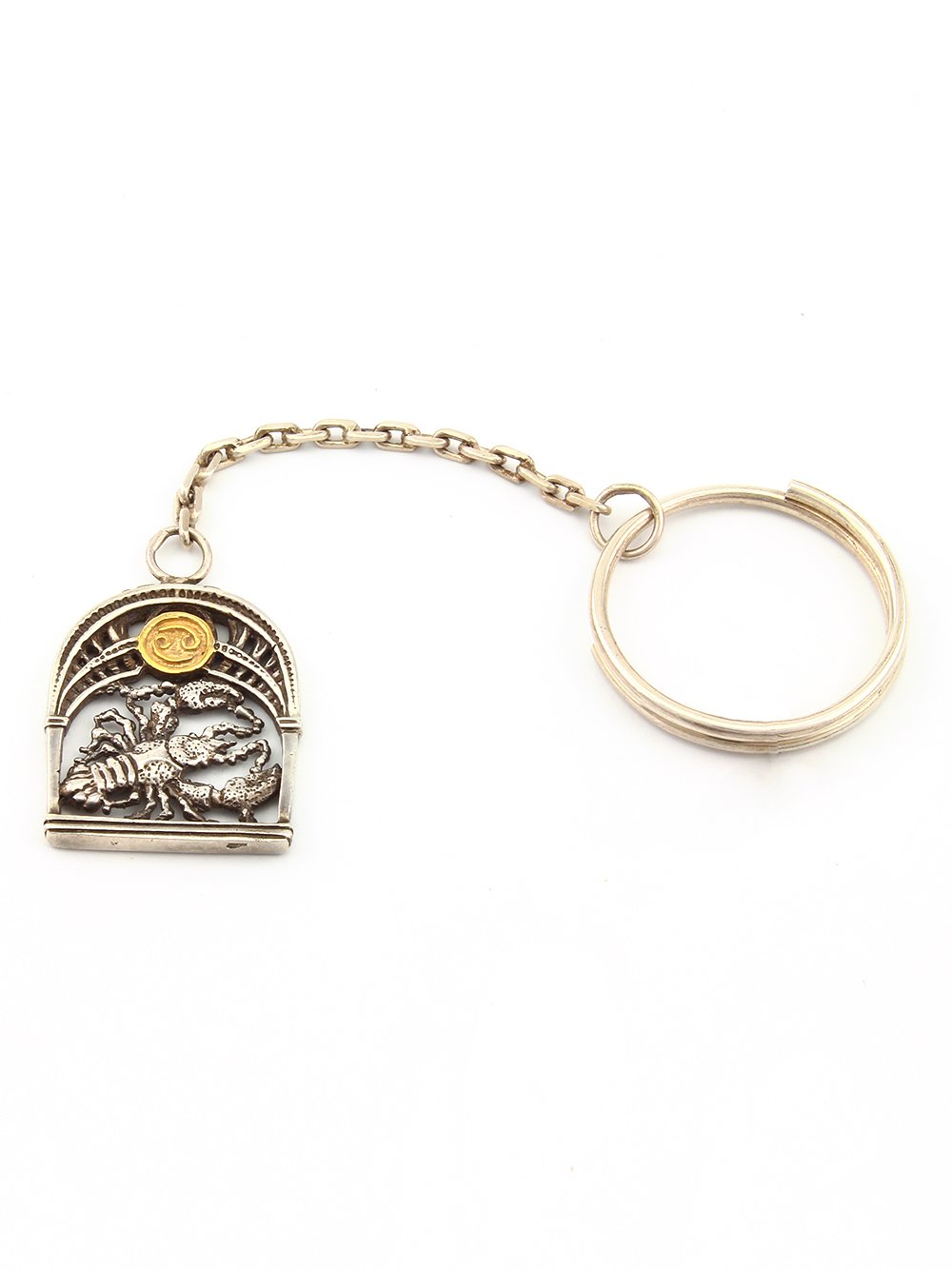 "Silver Key chain with Signs of the Zodiac ""Cancer"""