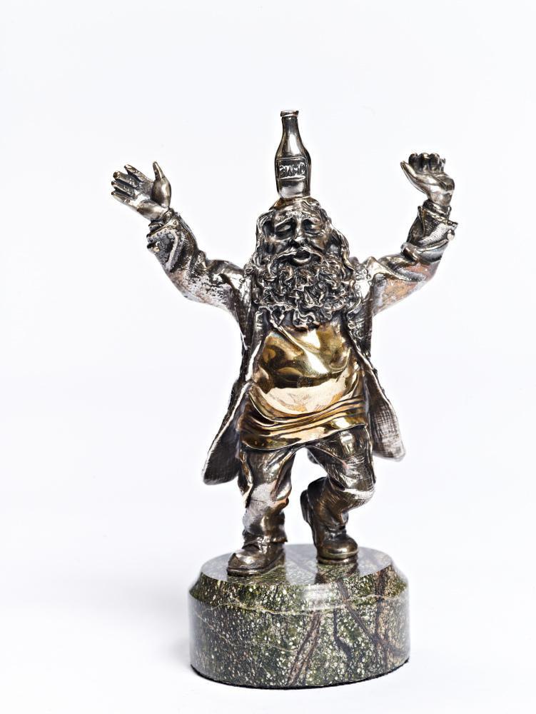 "Silver Figurine ""Jew with wine"""