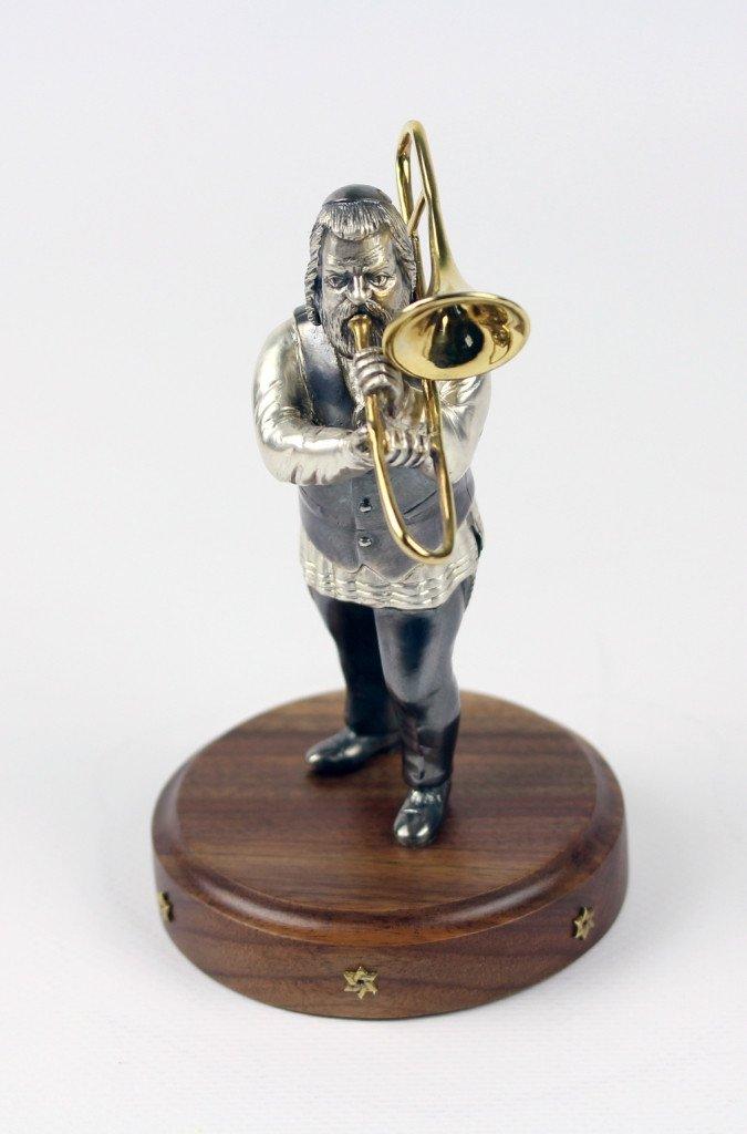 "Silver Figurine ""Musician with trombone"""