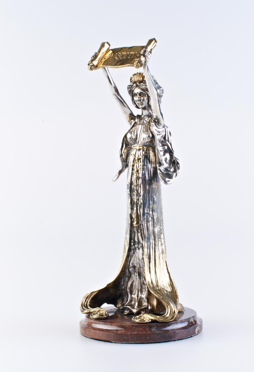 "Silver Statue figurine ""Justice"""