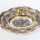 "Silver plate bowl for sweets ""Dance of Angels"""