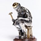 "Silver Figurine ""Jew with a book"""