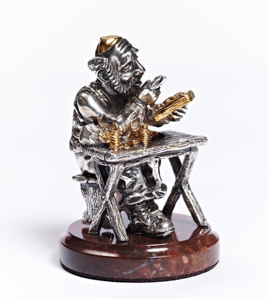 """Silver Figurine """"Jew usurer"""""""