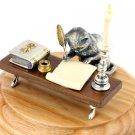 "Silver statue figurine ""Cat Writer"""