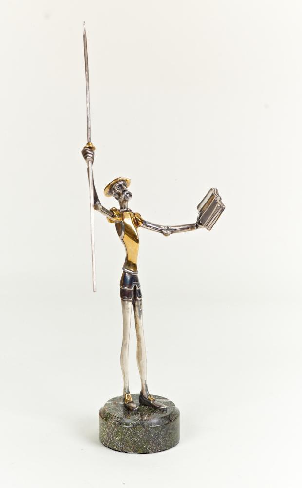 """Silver Statue figurine """"Don Quijote"""" 1069"""