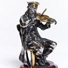 "Silver Figurine ""Violinist on chair"""