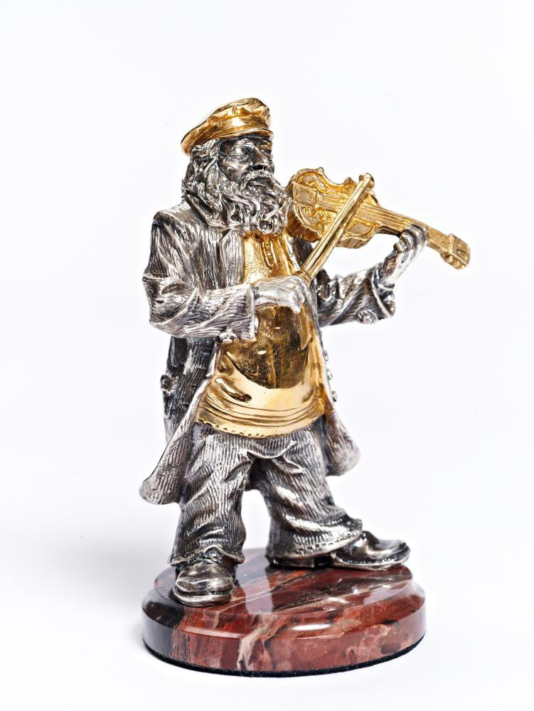"Silver Figurine ""Jew with violin"""