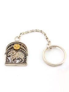 """Silver Key chain with Zodiac Horoscope Astrology Sign """"Aries"""""""