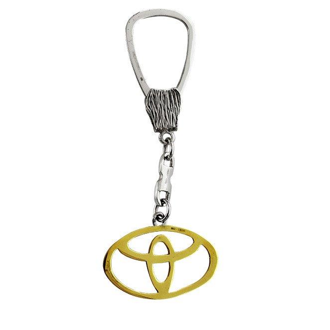 "Silver Keychain ""Toyota"""