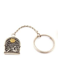 "Silver Key chain with Zodiac Horoscope Astrology Sign ""Virgo"""