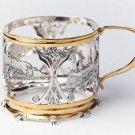"Silver Glass-holder ""Locomotive"""
