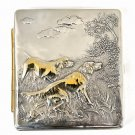 "Silver cigarette case ""Hunter"""