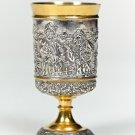 "Silver Shot glass ""Thank you, God, I'm not Muscovite"""