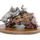 "Silver statue figurine ""Lynx"""