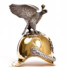 """Silver Shot glass """"Helmet with eagle"""""""