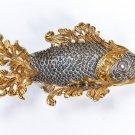 "Silver caviar plate bowl ""Fish"""
