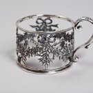 "Silver Tea Glass Cup Holder Podstakannik ""Bow"""