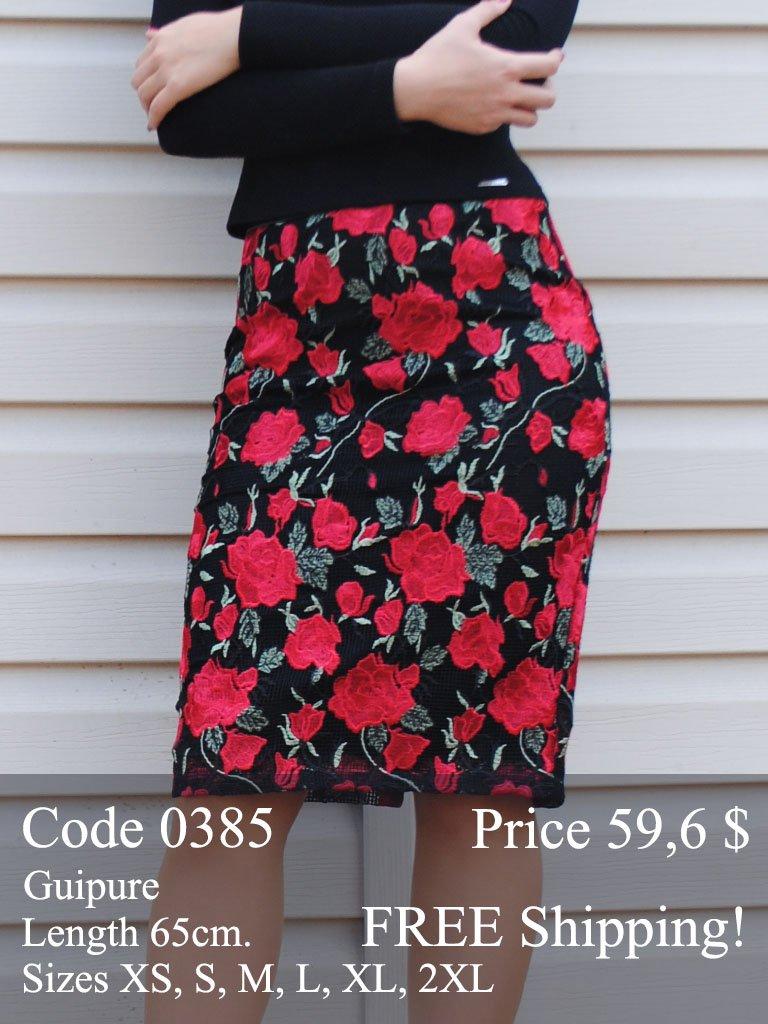 Spring summer midi pencil skirt