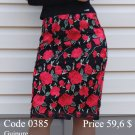 Spring summer midi pencil skirt