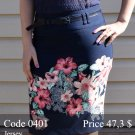 Summer midi pencil skirt
