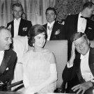 PRESIDENT KENNEDY, JACKIE & LYNDON JOHNSON AT INAUGURAL BALL 8X10 PHOTO (AA-137)
