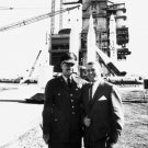 WERNHER VON BRAUN WITH COMMANDING GENERAL J.B. MEDARIS 8X10 NASA PHOTO (DA-389)