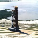 APOLLO 11 SATURN V ROLLS OUT TO LAUNCH PAD 39A - 8X10 NASA PHOTO (EP-362)