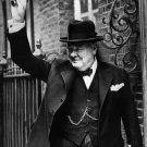 BRITISH PRIME MINISTER WINSTON CHURCHILL 10 DOWNING STREET - 8X10 PHOTO (AA-073)