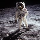 APOLLO 11 ASTRONAUT BUZZ ALDRIN ON THE MOON - 8X10 NASA PHOTO (EP-321)