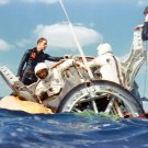 NAVY DIVERS ASSIST ASTRONAUTS STAFFORD & SCHIRRA GEMINI 6A - 8X10 PHOTO (AA-429)