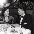 RONALD REAGAN WITH NANCY DAVIS IN UNKNOWN RESTAURANT 1949 - 8X10 PHOTO (AA-012)