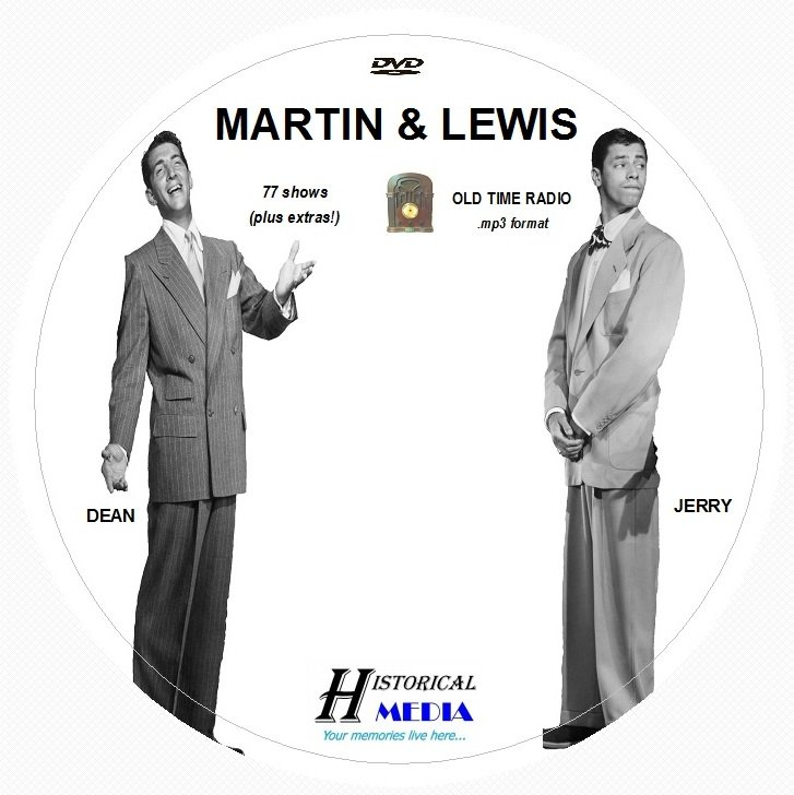 MARTIN AND LEWIS - 77 Shows Old Time Radio In MP3 Format OTR On 1 DVD