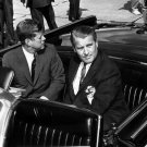 PRESIDENT JOHN F. KENNEDY TOURS MSFC WITH VON BRAUN - 8X10 B&W PHOTO (EP-268)