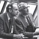 GEORGE LOWE & VON BRAUN MONITOR APOLLO 14 ACTIVITIES - 8X10 NASA PHOTO (EP-492)