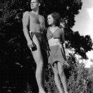 JOHNNY WEISSMULLER O'SULLIVAN 'TARZAN & HIS MATE' 8X10 PUBLICITY PHOTO (AB-066)