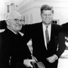 PRESIDENT JOHN F. KENNEDY WITH FORMER PRESIDENT HARRY TRUMAN 8X10 PHOTO (BB-310)
