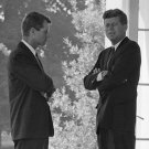 PRES KENNEDY W/ ATTORNEY GENERAL DURING CUBAN MISSILE CRISIS 8X10 PHOTO (BB-589)