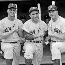 NEW YORK YANKEES ROGER MARIS, YOGI BERRA AND MICKEY MANTLE - 8X10 PHOTO (DA-459)