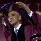 BARACK OBAMA RECEIVES AN HONORARY DEGREE MOREHOUSE COLLEGE - 8X10 PHOTO (CC-085)