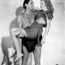 JOHNNY WEISSMULLER BRENDA JOYCE 'TARZAN & THE AMAZONS' 8X10 PUBLICITY PHOTO (AB-075)