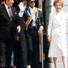PRESIDENT RONALD REAGAN AND NANCY WITH MICHAEL JACKSON - 8X10 PHOTO (AA-057)