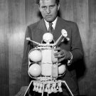 WERNHER VON BRAUN WITH EARLY LUNAR LANDER PROTOTYPE - 8X10 NASA PHOTO (ZZ-162)