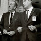 WALT DISNEY & WERNHER VON BRAUN DURING APRIL1965 TOUR - 8X10 NASA PHOTO (BB-026)
