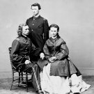 "GENERAL GEORGE CUSTER WITH WIFE ""LIBBIE"" AND BROTHER THOMAS 8X10 PHOTO (AA-591)"