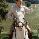"PRESIDENT RONALD REAGAN RIDES HIS HORSE ""EL ALAMEIN"" - 8X10 PHOTO (EP-805)"